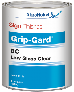 Sign Finishes Grip-Gard BC Low Gloss Clear 1 US Gallon