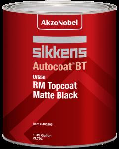 Sikkens Autocoat BT LV650 RM Topcoat Matt Black 1 US Gallon