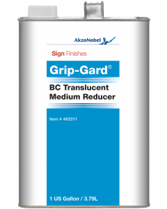 Sign Finishes Grip-Gard BC Translucent Medium Reducer 1 US Gallon