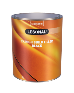 Lesonal 2K High Build Filler Black 3L