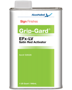 Sign Finishes EFx-LV Satin Red Activator 1 US Quart
