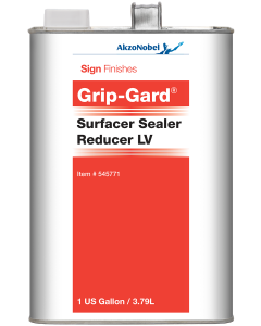 Sign Finishes Grip-Gard Surfacer Sealer Reducer LV 1 US Gallon