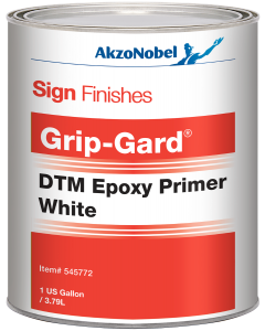 Sign Finishes Grip-Gard DTM Epoxy Primer White 1 US Gallon