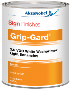 Sign Finishes Grip-Gard 3.5 VOC White Washprimer Light Enhancing 1 US Gallon