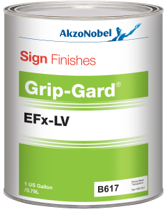 Sign Finishes Grip-Gard EFx-LV B617 Mixing Black Transparent 1 US Gallon