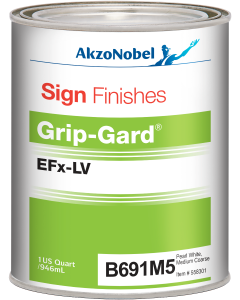 Sign Finishes Grip-Gard EFx-LV B691M Pearl White Medium Coarse 1 US Quart