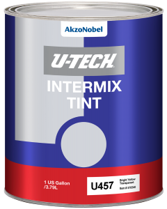 U457 Intermix Tint Bright Yellow Transparent 1 US Gallon