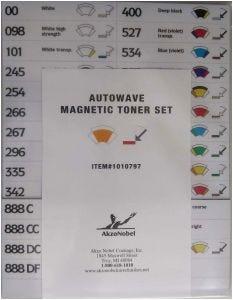 Sikkens Autowave® Magnetic Toner Number Set Each