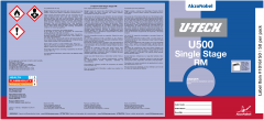U-TECH U500 RM Single Stage Pail Labels 50 Pack
