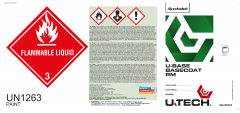 U-TECH UBASE RM Basecoat Pail / Drum Labels 50 Pack