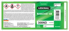 Label Lesonal SB 308ND NA US 8OZ 10/PK