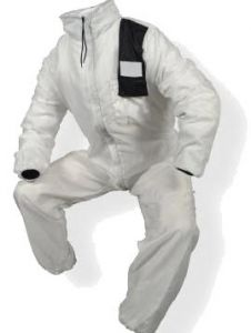 AN SIKKENS HOODED OVERALL SIZE48 WHITE