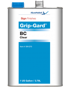 Sign Finishes Grip-Gard BC Clear 1 US Gallon