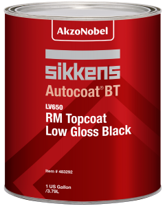 Sikkens Autocoat BT LV650 RM Topcoat Low Gloss Black 1 US Gallon