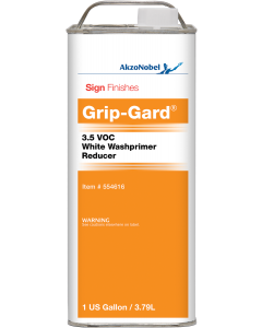 Sign Finishes Grip-Gard 3.5 VOC White Washprimer Reducer 1 US Gallon