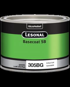 Lesonal Basecoat SB 305BG SEC Midcoat Brilliant Gold 500ml
