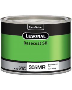Lesonal Basecoat SB 305MR SEC Midcoat Maroon Red 500ml