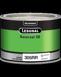 Lesonal Basecoat SB 305RR SEC Midcoat Rubine Red 500ml