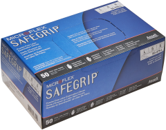 Microflex SafeGrip Latex Gloves (Box of 50) Large 50 Pack