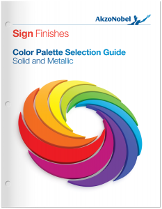 Sign Finishes Color Palette Selection Guide