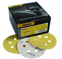 MIR GOLD DISC 6TR 77MM P120 50PC