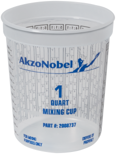 CV Mixing Cup Graduated 1QT (100/box)