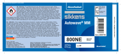 Sikkens Autowave® Label 800NE 8oz 10 Pack