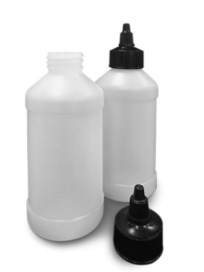PLASTIC BOTTLE AND CAP KIT 8OZ 20/KIT
