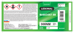 Label Lesonal SB 308NM NA US 8OZ 10/PK