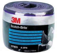 3M SCOTCH-BRITE PRE-CUT PAARS AVFN 115X150MM ROL
