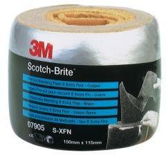 Scotch-Brite™ Vliesrolle CF-RL Perforierte Rolle kupfer, extrafine 115 mm x 150 mm