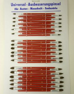 INP PENCIL BRUSHES ON CARD 36PC 23028