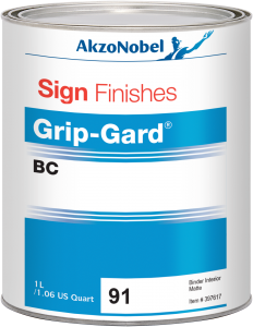 Sign Finishes Grip-Gard BC 91 Binder Interior Matte 1L