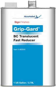 Sign Finishes Grip-Gard BC Translucent Fast Reducer 1 US Gallon