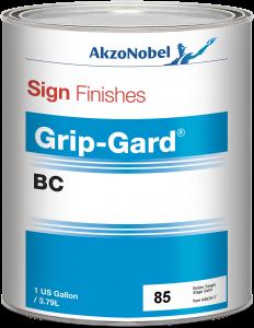Sign Finishes Grip-Gard BC 85 Binder Single Stage Satin 1 US Gallon