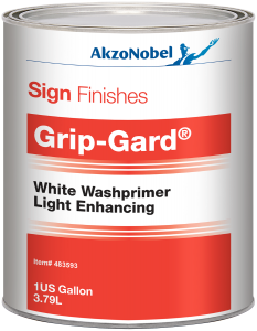 Sign Finishes Grip-Gard White Washprimer Light Enhancing 1 US Gallon