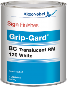 Sign Finishes Grip-Gard BC Translucent RM 120 White 1 US Gallon