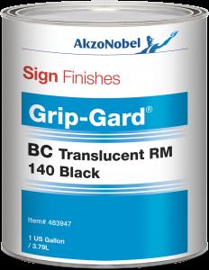 Sign Finishes Grip-Gard BC Translucent RM 140 Black 1 US Gallon