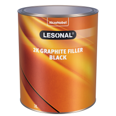 Lesonal 2K Graphite Filler Black 3L