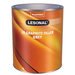 Lesonal 2K Graphite Filler Grey 3L