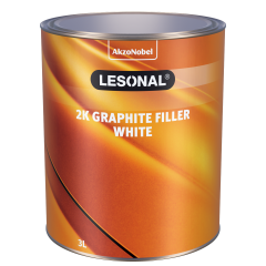 Lesonal 2K Graphite Filler White 3L
