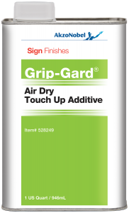 Sign Finishes Grip-Gard Air Dry Touch Up Additive 1 US Quart