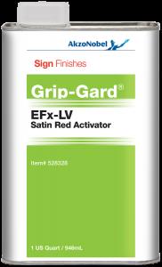 Sign Finishes EFx-LV Satin Red Activator 1 US Quart