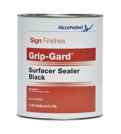 Sign Finishes Grip-Gard Surfacer Sealer Black 1 US Gallon