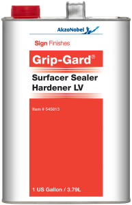 Sign Finishes Grip-Gard Surfacer Sealer Hardener LV 1 US Gallon