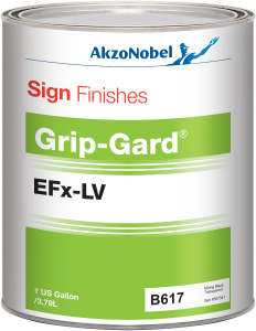 Sign Finishes Grip-Gard EFx-LV B617 Mixing Black Transparent 1 US Gallon
