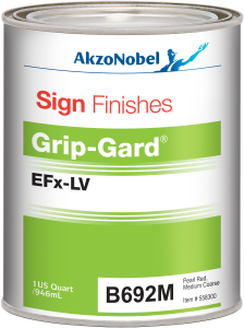 Sign Finishes Grip-Gard EFx-LV B692M Pearl Red Medium Coarse 1 US Quart