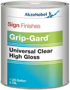 Sign Finishes Universal Clear High Gloss 1 US Gallon Round