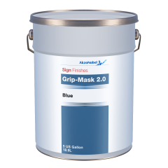 Sign Finishes Grip-Mask 2.0 Blue 5 US Gallons