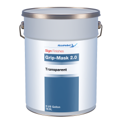 Sign Finishes Grip-Mask 2.0 Transparent 5 US Gallons